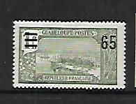 GUADELOUPE, 87, MINT HINGED HINGE REMNANT, GRAND TERRE