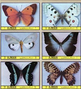 Ajman 1972 Butterflies IV Shlt (6) Perf.MNH Mi.#1970/1975