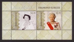 Tokelau Sc# 405a MNH Diamond Jubilee (S/S)