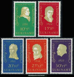 Surinam Scott B167-B171 Mint never hinged.