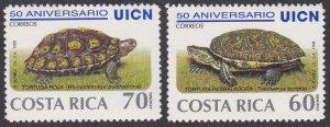 Costa Rica Sc #521a-b MNH Turtles