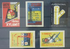 Match Box Labels ! architecture construction house buildings GN8
