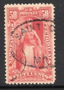 #PR119  50c Newspaper Stamp - USED and NICEq  cv$75.00