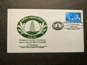 USCGC FRANK DREW WLM-557 Naval Cover 2000 COMMISSIONED Cachet