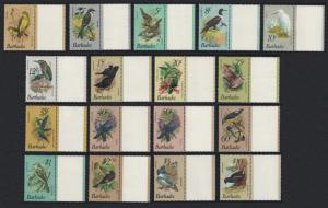 Barbados Finch Egret Heron Carib Kingfisher Moorhen Birds 17v with Right label