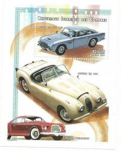 Comoro Islands         SS   Cars  Mint  NH VF 1999 PD