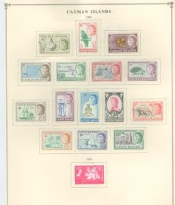 Cayman Islands 153-168 Mint VF H