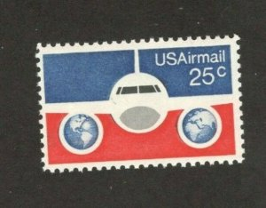 C89 Plane, Globes And Flag US Single Mint/nh FREE SHIPPING