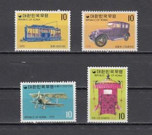 South Korea, Scott cat. 704-707. Transportation issue.