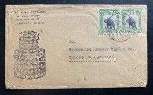1925 Jesselton North Borneo Advertising Tiger Balm Cover To Chicago IL USA