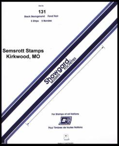 Showgard Black Stamp Mount 131 X 264 mm  (5 count)