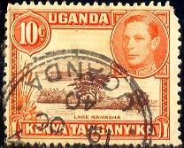 Lake Naivasha, Kenya, Uganda & Tanzania stamp SC#69 used