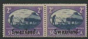 Swaziland -Scott 39 - Victory Overprint - 1945 - MLH - Pair of 2p Stamp