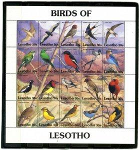 LESOTHO 1992 BIRDS SHEET OF 20 STAMPS MNH