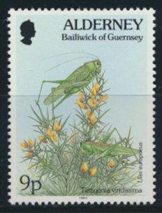 GB Alderney  SG A68 MNH  9p Great Green Bush Cricket  1994 SC# 78 See scan