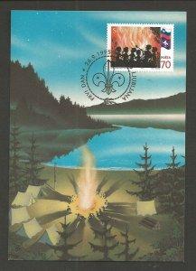 1995 Scouts Slovenia maximum card FDC