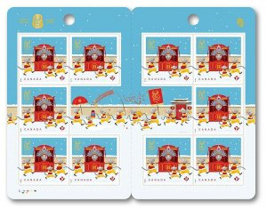 2020 = RAT LUNAR NEW YEAR = BOOKLET OF 10 stamps MNH CANADA