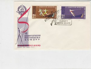 Poland  1962 Europe Athletics Championships Slogan Cancel FDC Stamps Cover 25070
