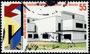 Germany #2277 55c Used (Bauhaus World Heritage Sites, Weimar and Dessau)