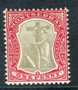 MONTSERRAT; 1903 early issue Crown CA fine Mint hinged 1d. value