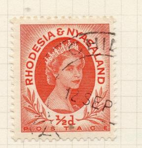 Rhodesia Nyasaland 1954 Early Issue Fine Used 1/2d. 282357