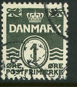 Denmark 220, 1o Wavy lines. Used. (361)