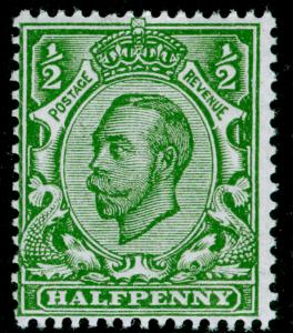 SG344 SPEC N5(2), ½d pale green, NH MINT. Cat £15. WMK ROYAL CYPHER (SIMPLE)
