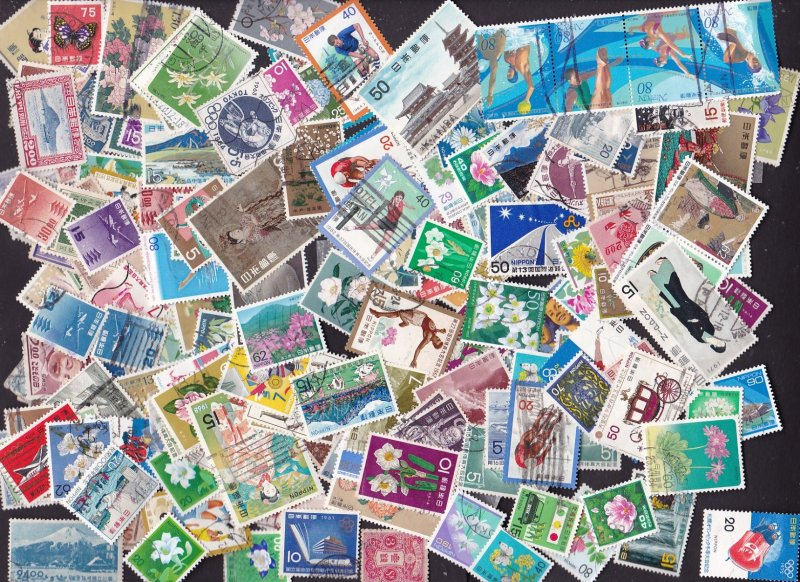 Japan mix of about 190 stamps M & U