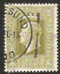 Norway Used Sc 537 - King Olav V