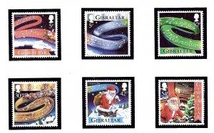Gibraltar 822-27 MNH 1999 Christmas and New Year