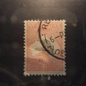 australia 127 10 shilling pink/gray