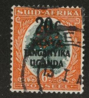 Kenya Uganda and Tanganyika KUT Scott 88b Used