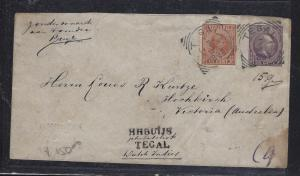 NETHERLAND INDIES (P1709B) 1897  25C PSE UPRATED  10C  TO AUSTRALIA