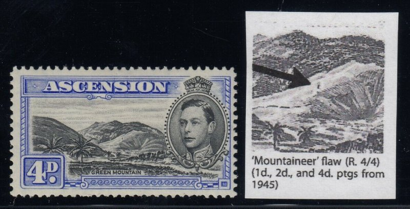 Ascension, SG 42cda, MLH Mountaineer Flaw variety