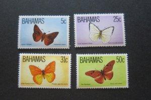 Bahamas Sc 539-542 Butterfly Set MNH
