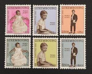 Luxembourg 1961 #B222-7, Prince Henri, MNH