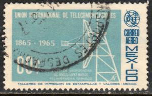 MEXICO C303, Centenary of the I. T. U., USED. F-VF. (1213)