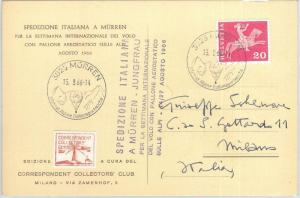 72185 - SWITZERLAND - Postal History - SPECIAL FLIGHT expedition - BALLOONS 1966