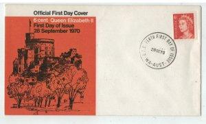 1970 6c QEII     FDC