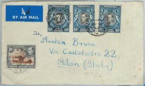 67406 - KENYA UGANDA TANGANIKA  - Postal History -  COVER to MADAGASCAR !  1952