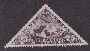 Tannu Tuva # C5, Wild Sheep, Unused, 1/3 Cat. Triangle Shaped Stamp