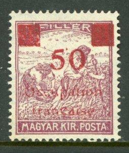 Hungary 1919 French Occupation 50f/3f Sc #1N20 Mint M921 ⭐⭐