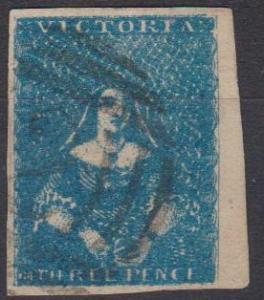 Victoria #3 F-VF Used CV $450.00 (B4393)