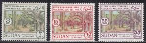 Sudan 130-132 Hinged 1960 17th Olympic Games, Rome