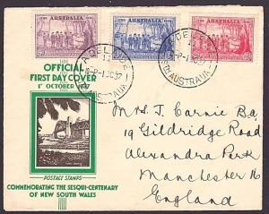 AUSTRALIA 1937 NSW commem FDC...............................................6981