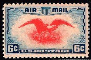 US STAMP #C23 – 1938 6c Airmail Eagle MNH/OG XFS