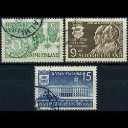 FINLAND 1950 - Scott# 297-9 Helsinki 400th. Set of 3 Used
