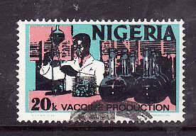 Nigeria-Sc#301- id5-used 20k Vaccine production-1973-4-