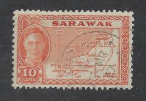 SARAWAK SC# 186 VF U 1950