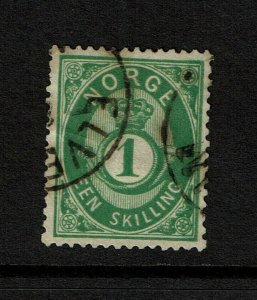 Norway SC# 16, Used, two minor side creases - S9198